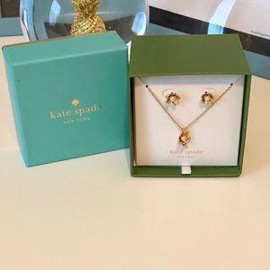 Kate Spade 🎉HP🎉Pretty Petal Necklace Earring Set